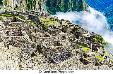 machu picchu, incas, gruzy, w, andy, na, cuzco, peru