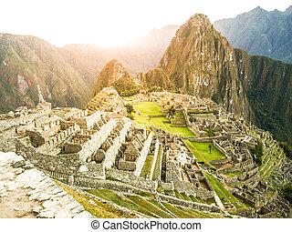 Machu Picchu, Lost City of Incas. Peru.