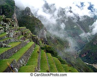 Machu Picchu - Ruins of Machu Picchu in the andes of peru.