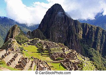 Machu Picchu, the lost Inca city in Peru.