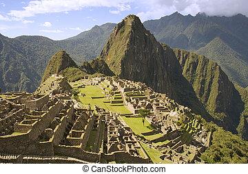 Machu Picchu - The Lost Incan City of Machu Picchu near...