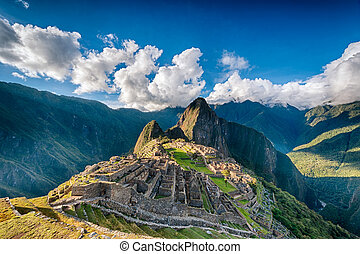 Machu Picchu an over view above the lost city