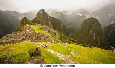 Machu Picchu Time lapse - Time lapse video footage of Machu...