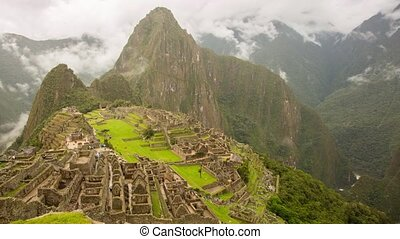 Machu Picchu Time lapse video footage in Peru