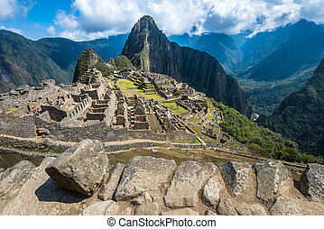 Machu Picchu, UNESCO World Heritage Site. One of the New...