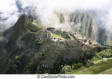 machu picchu - View of the Lost Incan City of Machu Picchu...