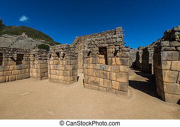 Machu, przemysłowy, pas, peruwiański,  Cuzco, Andy,  peru,  Picchu, gruzy