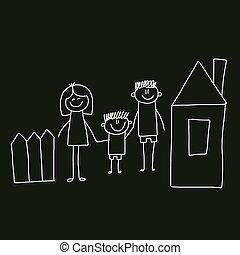 macierz, family., ojciec, son., szczęśliwy