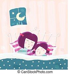 macierz, sypialne dziecko