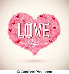 macio, coração, ícone, para, seu, romanticos, design., vetorial, illustration.