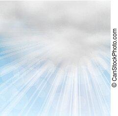 macio, nuvens, fundo, manhã