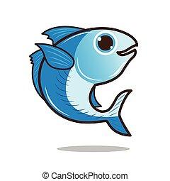 Mackerel cute cartoon