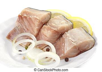 mackerel pieces
