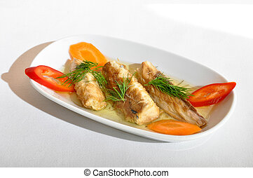 Mackerel with olive oil