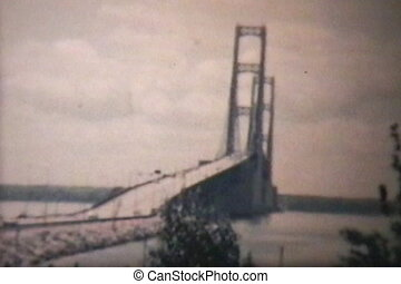 Mackinac Bridge (1965 Vintage 8mm)