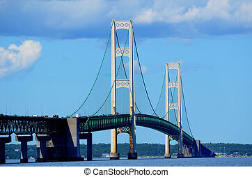 Mackinac Bridge on a Sunny Summer Day
