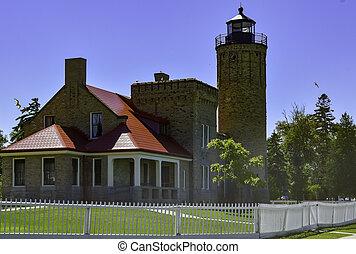 Mackinac Lighthouse On Lake Eire