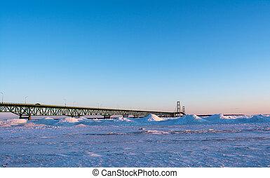 Mackinaw Bridge taken from Mackinaw city MI