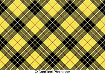 Macleod tartan kilt fabric texture plaid diagonal seamless...