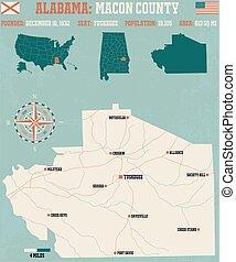 Macon County in Alabama USA