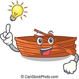 macot, houten, idee, naast, hebben, strand, scheepje