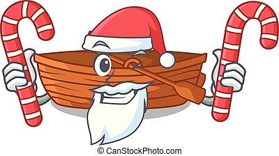 macot, houten, versuikeren, naast, kerstman, strand, ...