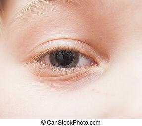 macro , άπειρος , - , μάτι