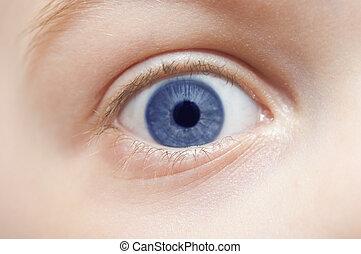 macro , μάτι , άπειρος , -