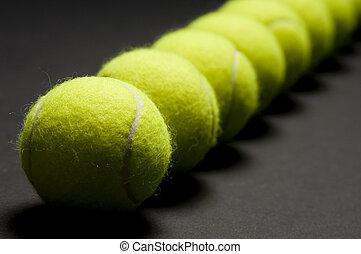 macro, 3, boules tennis