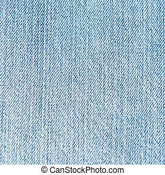 macro, astratto, blu, jean., fondo, bianco