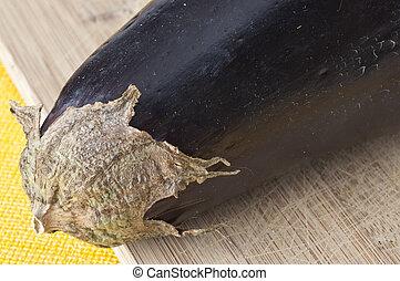 macro, aubergine, frais