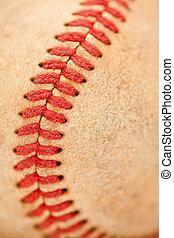 macro, beisball, detalle, usado