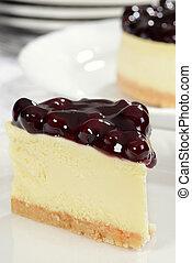 macro blueberry cheesecake