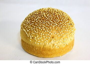 Burger Bun on a white background .