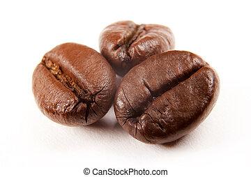 macro, café, image, beans;