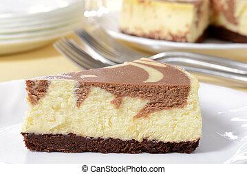 macro chocolate cheesecake