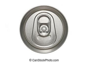 macro, cima, lata, aluminio