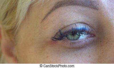 Macro Close-up eye Beauty blinking