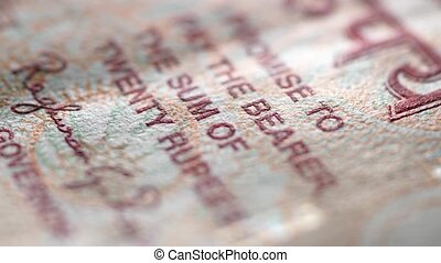 Indian Currency - Macro close up of Indian Currency