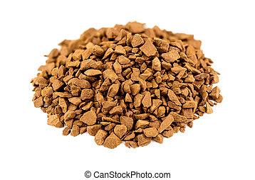 Macro closeup of instant coffee powder