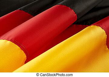macro, coup, de, drapeau allemand