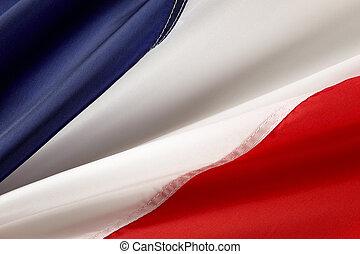 macro, coup, de, drapeau français