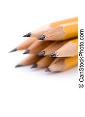 macro, de, crayons
