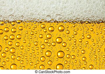 macro, de, rafraîchissant, bière