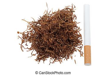 macro, de, tabaco, y, un, cigarrillo