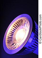 warmwhite COB-LED - macro detail of a warmwhite COB-LED in ...
