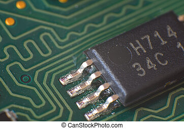 Macro detail of electronic chip