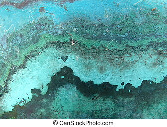 macro from copper metal corrosion