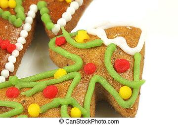 Macro gingerbread Christmas tree