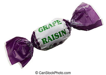 grape raisin candy - Macro image of a grape raisin candy ...